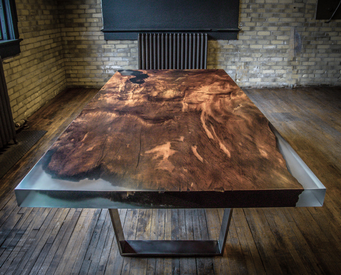 this dining table is carved from 4000 year old redwood burl. Black Bedroom Furniture Sets. Home Design Ideas